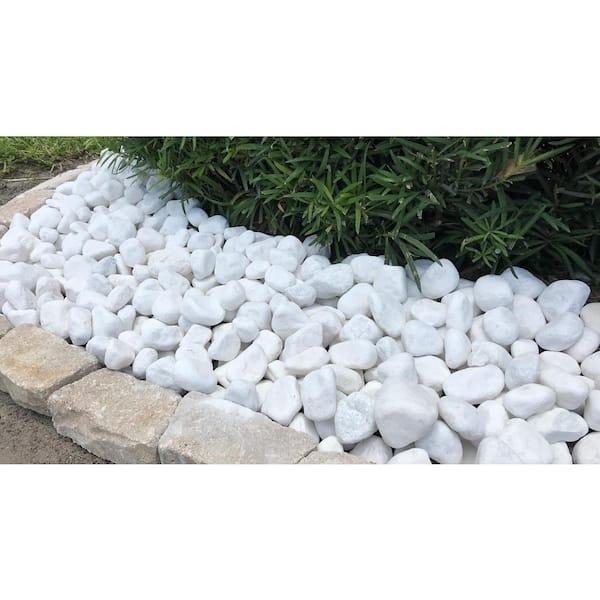 1 Cm 5 Lb Snow White Mini Pebbles, White Garden Rocks Home Depot