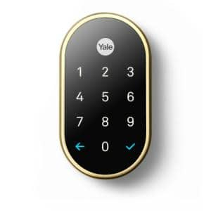 Nest x Yale Lock - Smart Deadbolt Lock with Nest Connect - Polished Brass