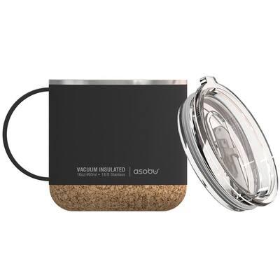 16 oz. Black Stainless Steel Vacuum Insulated Travel Mug