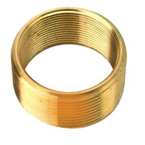 Convert 1.625 in. x 16 Threads to 1.9 in. x 14 Threads Brass Bushing