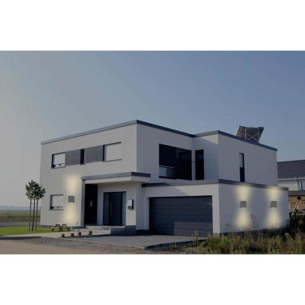Vidalite Bronze Modern Slim Led Outdoor, Modern Garage Sconce Lights