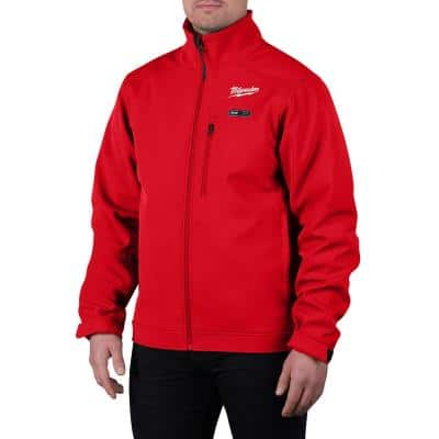 Men's Large M12 12V Lithium-Ion Cordless TOUGHSHELL Red Heated Jacket with (1) 3.0 Ah Battery and Charger
