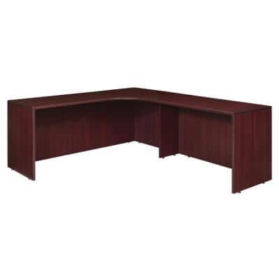 Magons 71 in. Mahogany Right Corner Credenza Shell with 47 in. Return Shell