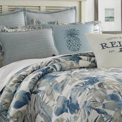 Raw Coast Blue Botanical Duvet Cover Set