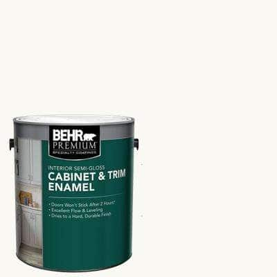 1 gal. Ultra Pure White Base Semi-Gloss Interior Cabinet and Trim Paint
