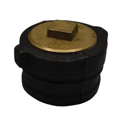 4 in. x 2-1/8 in. No Hub Cast Iron Cleanout with 3-1/2 in. Raised Head Southern Code Plug for DWV