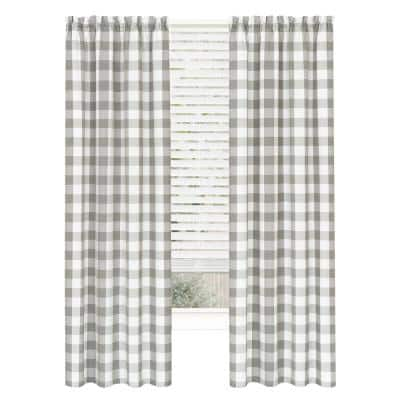 Hunter 42 in. W x 63 in. L Polyester Light Filtering Curtain Panel in Grey
