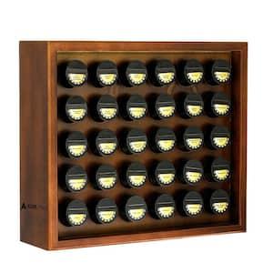 Walnut Wood Spice Rack with 30 Jars