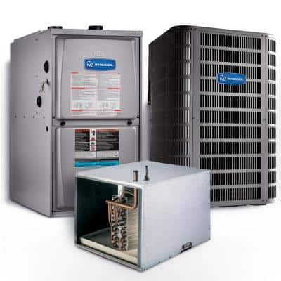 Signature 1.5 Ton 14 SEER Horizontal 95% AFUE 45,000 BTU Complete Split System Air Conditioner with Gas Furnace