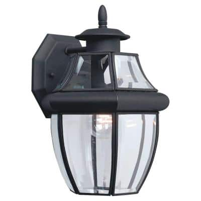 Lancaster 1-Light Black Outdoor Wall Lantern Sconce
