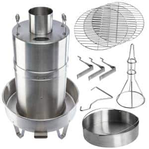 Outdoor Convection Steam Cooker Stainless Steel Barbecue Smoker