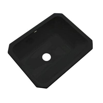 Kensington Undermount Acrylic 25 in. Single Bowl Utility Sink in Black