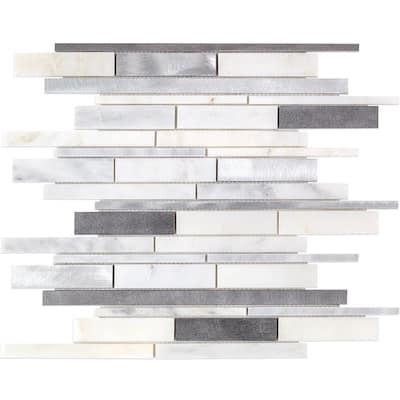 Urban Denim 12 in. x 12 in. x 8 mm Metal Wall Tile