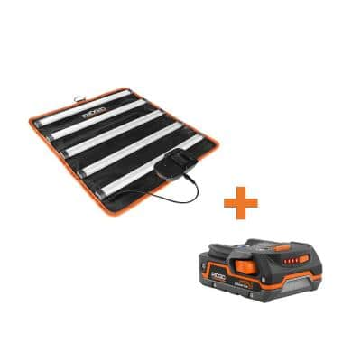 18-Volt Cordless LED Mat Light with 1.5 Ah Lithium-Ion Battery