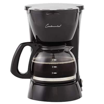 4-Cup Black Drip Coffee Maker