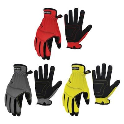 Large Utility Work Gloves (3-Pair)