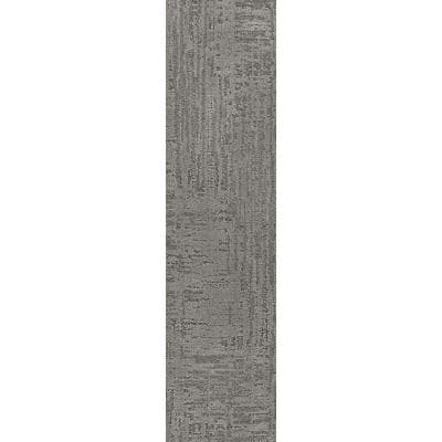 Nature's Linen - Color Nightfall Residential 9 in. x 36 in. Peel and Stick Carpet Tile (8 Tiles/Case)