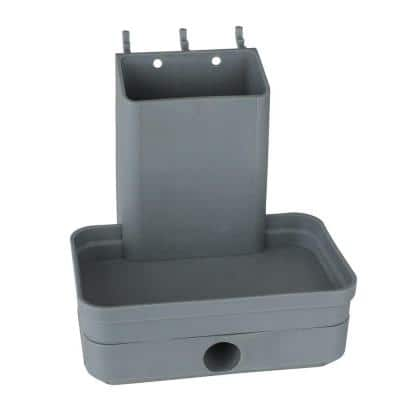 Plastic Peggable Pencil Sharpener with Tape Measure Holder in Gray 1/4 in