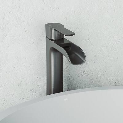 Niko Single-Handle Vessel Sink Faucet in Graphite Black