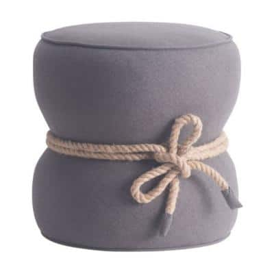 Julia 18.9 in. Gray Polyester Blend Ottoman without Storage