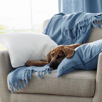 Linen Boudoir / Throw Pillow Cover