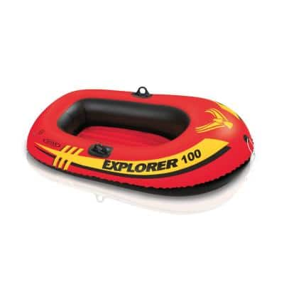 Explorer 100 1-Person Inflatable Floating Boat Pool Float