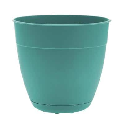 Dayton 12 in. Agate Green Plastic Planter