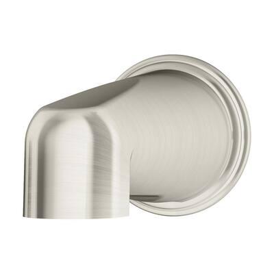 Elm Non-Diverter Tub Spout in Satin Nickel