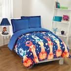 Blast Off 2-Piece Navy Twin Comforter Set