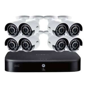 DIY 8-Channel 4K Ultra HD 1TB HDD Smart Security Camera System with 8 Wired Cameras Featuring Smart Motion Detection