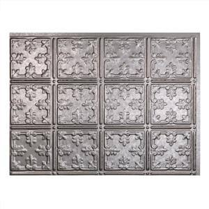 Traditional 18 in. x 24 in. Galvanized Steel Vinyl Decorative Wall Tile Backsplash 15 sq. ft. Kit