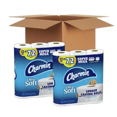 Ultra-Soft Super Mega Roll Toilet Paper (396-Sheets Per Roll, 12 Rolls) (Case of 2)