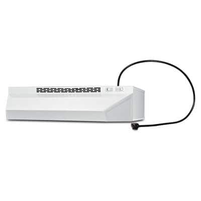 20 in. Non-Vented Range Hood in White with Cord