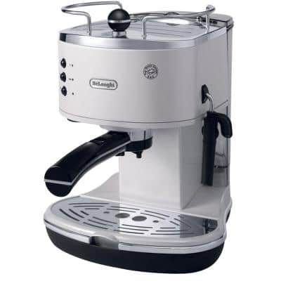 Icona Espresso 15-Bar White Espresso Machine and Cappuccino Maker