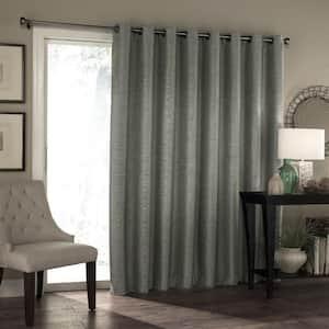 Grey Grommet Blackout Curtain - 100 in. W x 84 in. L
