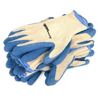Latex Coated String Knit Gloves, 6-Pack (Size XL)