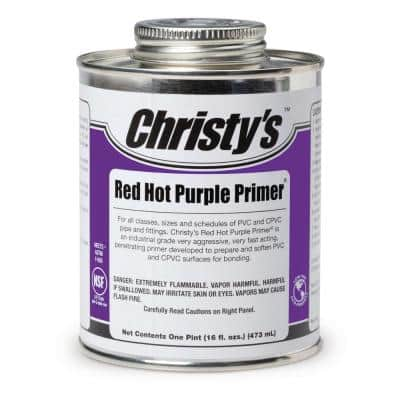 16 oz. Red Hot Purple Primer for PVC CPVC (Case of 12)