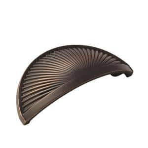 Sea Grass 3 in (76 mm) Center-to-Center Oil-Rubbed Bronze Cabinet Drawer Cup Pull