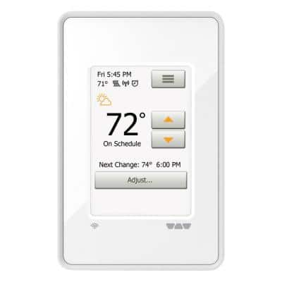 Ditra-Heat Wi-Fi Programmable Thermostat, Bright White