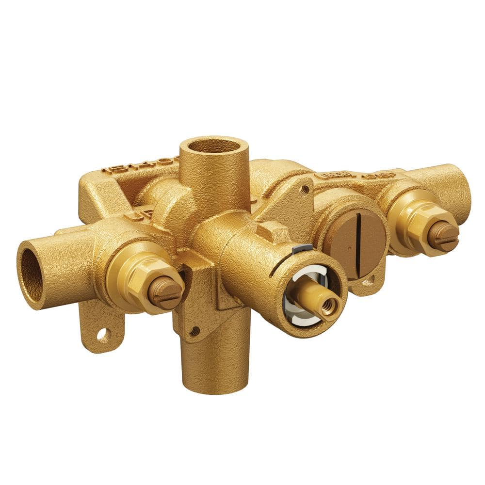 Moen Moentrol Pressure Balancing Volume Control Tub And Shower Valve With Stops 1 2 In Cc Connection 3570 The Home Depot