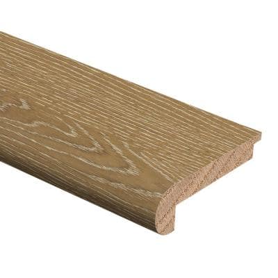 Oak Charleston Sand Wire Brushed 1/2 in. Thick x 2-3/4 in. Wide x 94 in. Length Hardwood Stair Nose Molding Flush