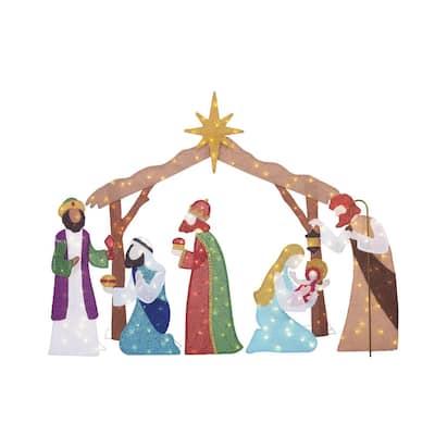 6 ft Yuletide Lane LED 210-Light Nativity Set