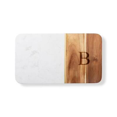 Marble/Acacia Serving Board - B