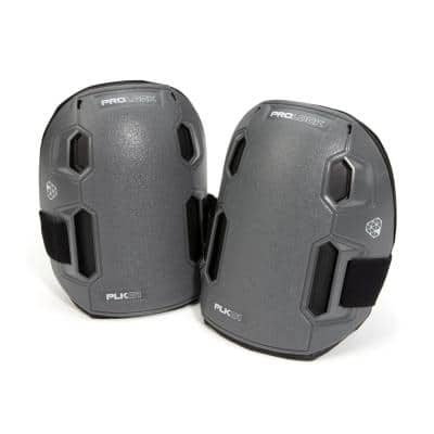 2-in-1 Non-Marring / Removable Hard Cap Knee Pads