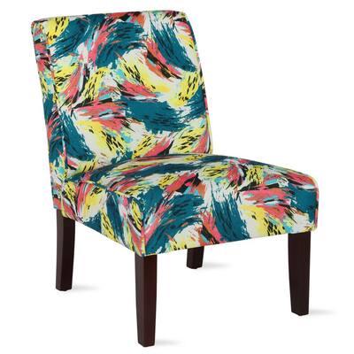 Teagan Abstract Armless Accent Chair