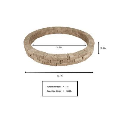 RumbleStone 93 in. x 10.5 in. Tree Ring Kit in Cafe