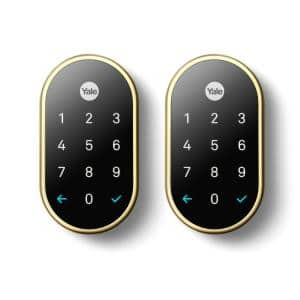 Nest x Yale Lock Polished Brass with Nest Connect (2-Pack)