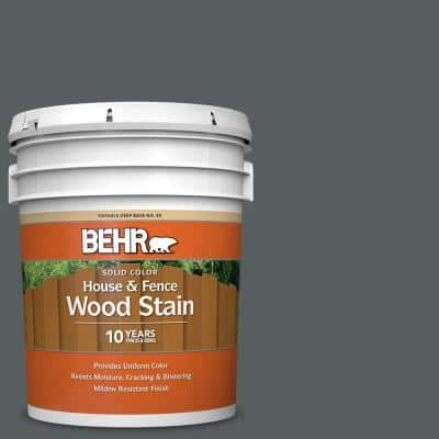 5 gal. #N500-6 Graphic Charcoal Solid Color House and Fence Exterior Wood Stain
