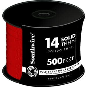 500 ft. 14-Gauge Red Solid CU THHN Wire