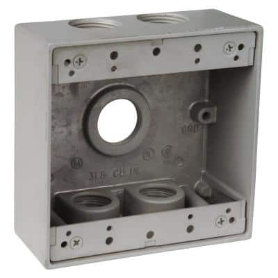 2-Gang Universal Weatherproof Electrical Box - Silver (Case of 9)